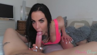 Creampie after SLOW SLOPPY Blowjob! Her pussy is TOO DAMN TIGHT!!!