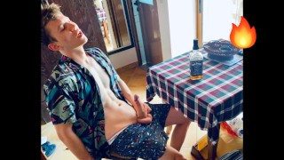 """"""" SPY CAM """" I caught my Step Brother Jerking Off and Drinking Whiskey in my room / Big Dick / Teen /"""