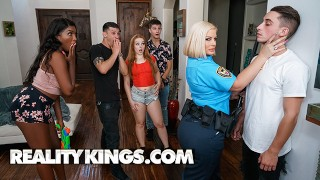 Reality Kings - Police Officer Julie Cash Destroyes Chris Rail