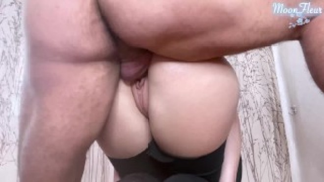 Big Ass Babe Blowjob Dick and Hard Doggystyle – Cum on Pussy