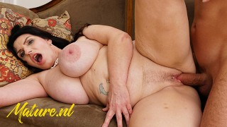 MatureNL Milf Gets Creampied And Squirts All Over The Kitchen Counter