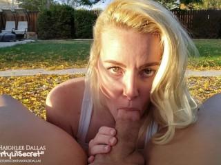 Ball Sucking Beauty Gives Golden Hour Outdoor Blowjob – Naughty Neighbors – OurDirtyLilSecret