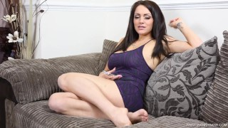 Brunette Milf Watches You Wank While Talking To Her Boyfriend On The Phone