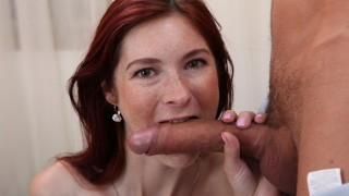 Fishnet Fantasy Babe Kattie Sucks On Big Meat