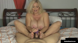 Handjob Housewife Charlee Chase Slides Hands On Your Cock!