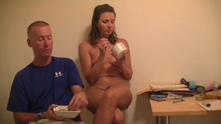 Helena Price Home Movies 12 - A snack, cum cleaning, and chatting like a slutty wife!