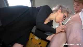 Hot granny wants young cock at MatureVan