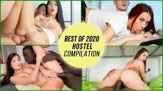 HornyHostel - Best Of 2020 Hostel COMPILATION! Petite Horny Teens Love To Fuck - LETSDOEIT