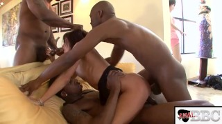 ANALIZED - HORNY MILF SLUT CECILIA VEGA TAKES 4 BBCS UP HER ASS INTERRACIAL GANGBANG