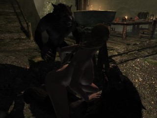 Andrea's Werewolf Gang Bang A Skyrim Story