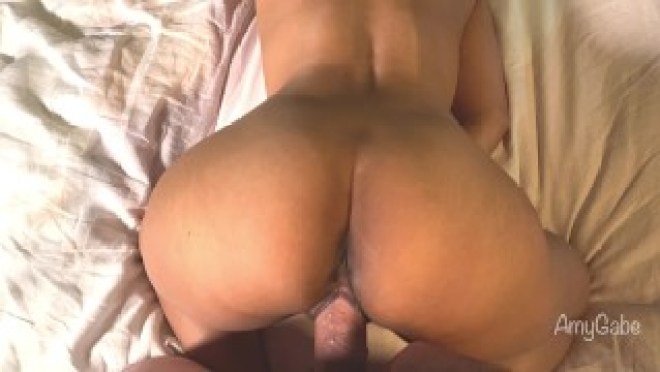 Relaxing Movie Night Turns into Hot Steamy Fucking Real Amateur AmyGabe