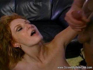 Redhead Swinger MILF Messy Facial