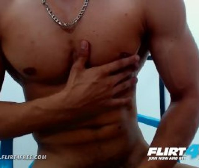 Charles Lee On Flirtfree Latino Stud Flexes Muscles And Jerks Uncut Cock