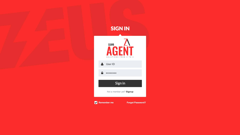 Zeus Agent – Login