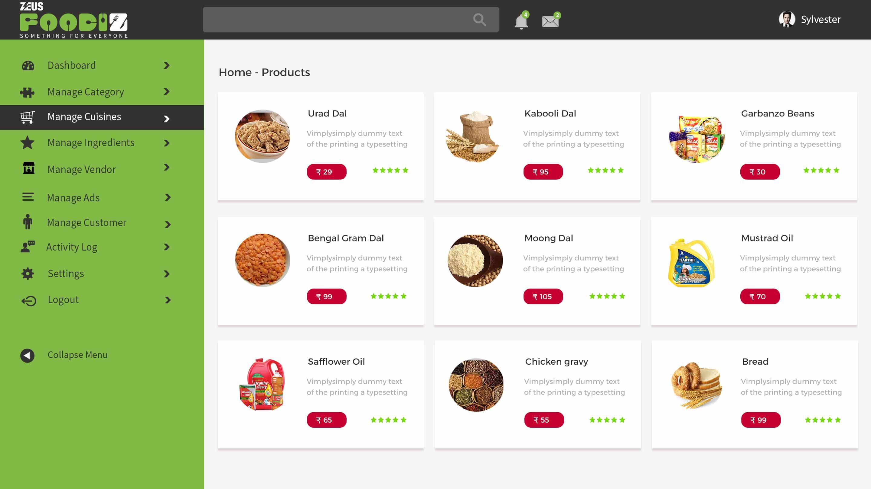 Zeus Foodiz – products