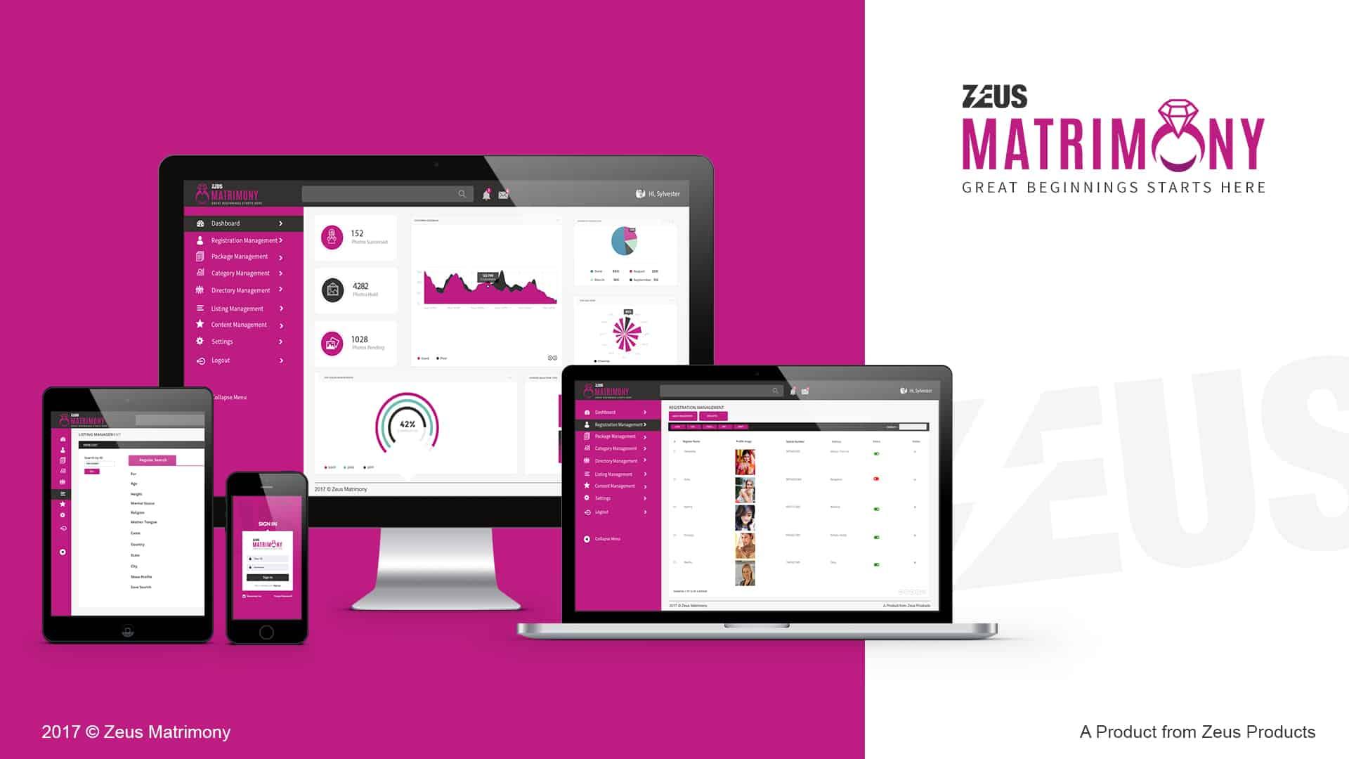 Zeus matrimony CRM Software