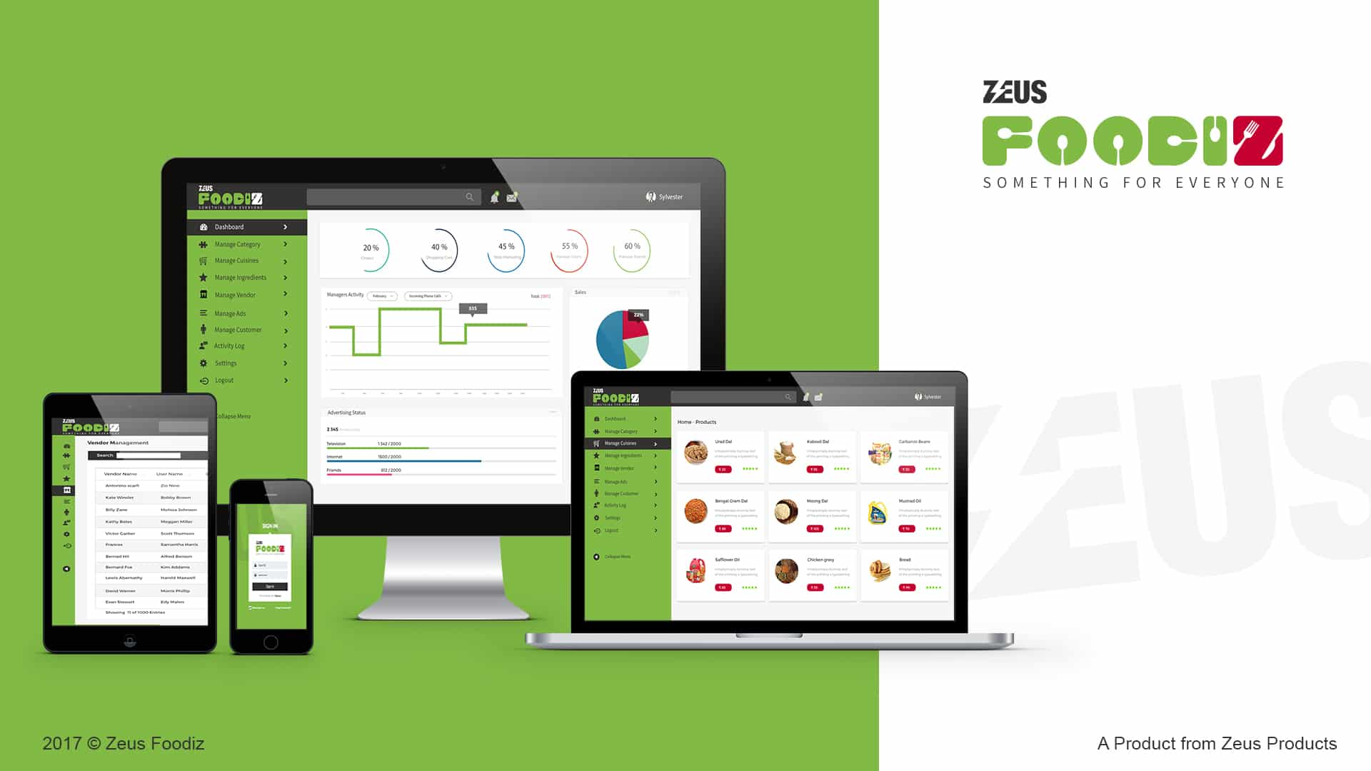 Zeus Foodiz Mocck up Details