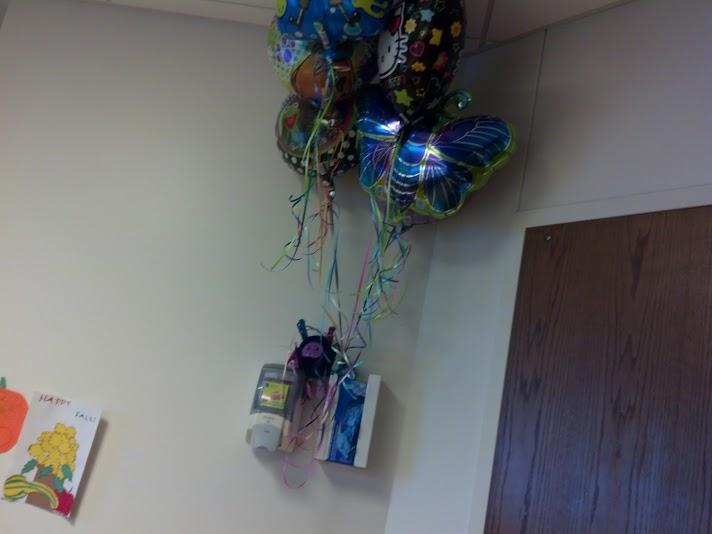 Captain Bats manning the balloons