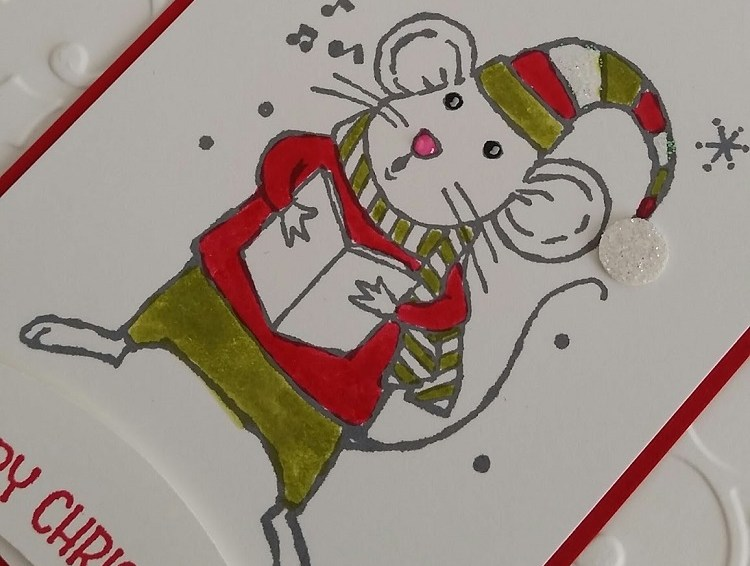 Southern Skies Cardmakers July Card Swap: Merry Christmouse