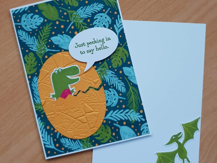 Make it Monday: Cute Dinosaur Card!