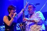 Flieger-Sängerin Katrin Eggert gab in Mechernich wieder alles. (Foto: Reiner Züll)