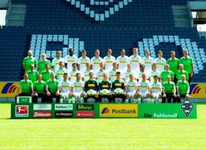 """Die Bundesligamannschaft von Borussia Mönchengladbach steht auf der """"Fohlentour"""" für ein Freundschaftsspiel in Bitburg bereit. Foto: Dieter Wiechmann/ Borussia Mönchengladbach"""