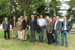 Der langjährige Naturpark-Geschäftsführer Jan Lembach (5. v.l.) wurde im Kreise des Vorstandes des Naturparks Nordeifel verabschiedet. Bild: Naturpark Nordeifel