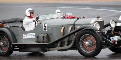 Ein Schmuckstück ist auch dieser Mercedes 680 S Sport/4 aus dem Jahr 1928. Moritz Dressel aus Bad Homburg kam mit dem betagten Fahrzeug zum Nürburgring. (Foto: Reiner Züll)