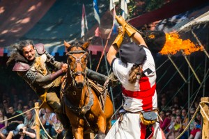 Gleich an zwei Wochenenden sind auf Burg Satzvey wieder die Ritter los. Bild: Mike Göhre/Burg Satzvey