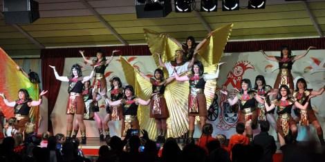 Die KG Rot Weiß Gemünd brachte Pharaonen auf die Kaller Bühne. (Foto: Reiner Züll)