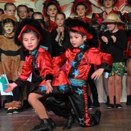 Tanzten sich in die Herzen der Zuschauer: Das Kindertanzpaar der Morhahne. (Foto: Reiner Züll)