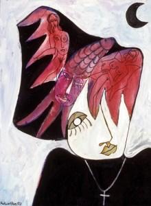 """Vielleicht das ungewöhnlichste  Bild von Merlin Flu. Es trägt den Titel """"Trauer"""". Repro: Christine Schirrmacher"""