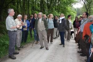 Während der Wanderung wollen Mitarbeiter der Nationalparkverwaltung geplante und bereits ausgeführte Maßnahmen zur Waldentwicklung vorstellen. Archivfoto: Nationalparkverwaltung Eifel/A. Olligschläger