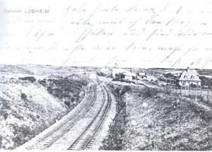 Der Bahnhof Losheim anno 1914. Foto: Sammlung Balter
