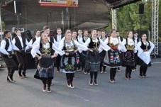 Die Fokloregruppen tanzten in farbenfrohen Trachten. Reiner Züll