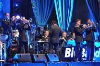 Trompeter Peter Blum (rechts) hatte in Vogelsang quasi ein Heimspiel. Blum ist Dirigent der Musikkapelle Kall. Foto: Reiner Züll