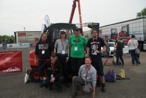 Die Teilnehmer der NEW bei der NRW-Regionalmeisterschaft im Gabelstaplerfahren. Foto: NEW