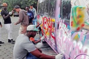 Großen Anklang fand eine Graffiti-Aktion des Künstlers Niklas Kappenstein. Bild: Carsten Düppengießer