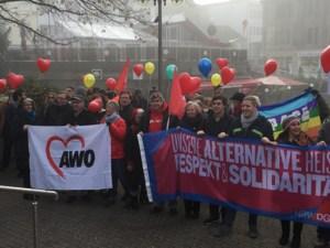 """Für ein friedliches Miteinander steht die Aktion """"Wir zeigen Herz"""". Foto: SPD Kreis Euskirchen"""