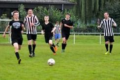 Ein Fußball-Team der Gaststätte Gier belegte beim Vereinsturnier anlässlich des Sportfestes des KSC den dritten Platz. Foto: Reiner Züll