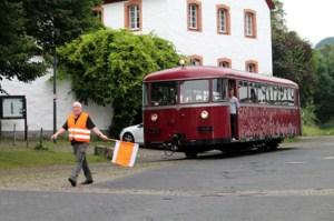 Ein Uerdinger Schienenbus in Olef. Foto: Marita Rauchberger