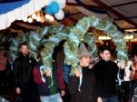 Junggesellen aus Beergheim und Lorbach nach dem Festzug beim Saaleinmarsch. Foto: Reiner Züll