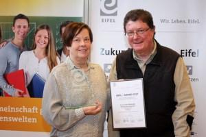 Harald Bardenhagen war der einzige Gewinner des Eifel Award, der nicht aus der Gastronomie stammt. Bild: Vogelsang IP