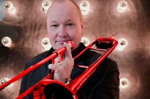 """""""Mr. Red Horn"""" Nils Landgren will in Monschau zu Ehren von Leonard Bernstein spielen. Foto: Steven Haberland / ACT"""