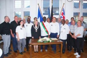 Die Delegation aus Piéla war auch zu Gast im Rathaus. Bild: Marita Hochgürtel