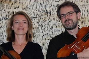 Cordula Kurthen und David Hecker treten im KunstForum Eifel auf. Foto Cordula Kurthen