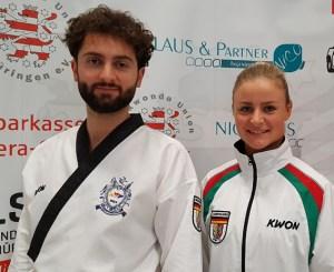 Jessica Rau und Triumf Beha waren auf der Deutschen Hochschulmeisterschaft in Jena erfolgreich. Privat/Taekwondo Club Schleiden