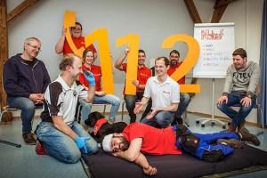 Die Johanniter-Unfall-Hilfe macht auf die Bedeutung der in Europa länderübergreifenden Notrufnummer 112 hin. Bild: Tobias Grosser