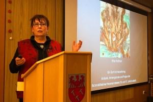 Dr. Rita Voltmer trug in Dahlem-Schmidtheim die Ergebnisse jahrelanger Forschung zu den Hexenprozessen in Schmidtheim vor. Foto: Gemeinde Dahlem