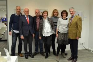 Der neue Vorstand nach der Wahl:  Achim Klocke (v.l.), Frank G. Zehnder, Hubertus Zander, Marita Jaeger, Sigrid Lorenz, Rita Vieten und Fred Kessel. Bild: IKH